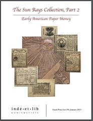 FIXED PRICE LIST: EARLY AMERICAN PAPER MONEY