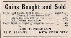JOSEPH FRANCIS NEGREEN, JR. (1881-1924)