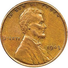 ANOTHER 1943 COPPER CENT SURFACES