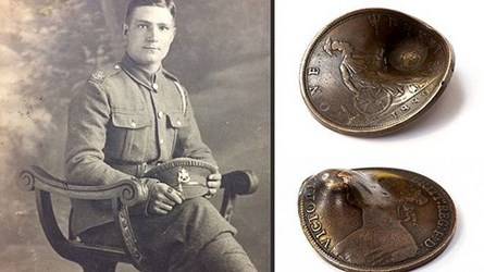 1889 PENNY SAVED WWI SOLDIER'S LIFE