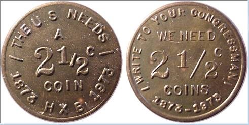 BOOSEL'S CAMPAIGN FOR THE 2 1/2 CENT COIN