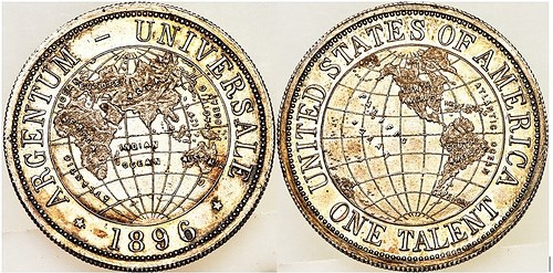 1896 ARGENTUM UNIVERSALE ONE TALENT OFFERED