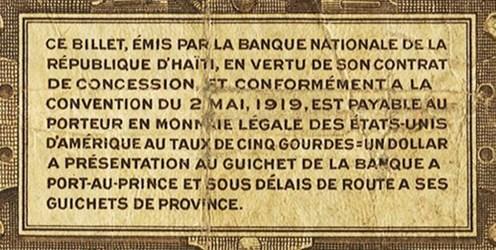 THE HAITIAN DOLLAR DOESN'T EXIST