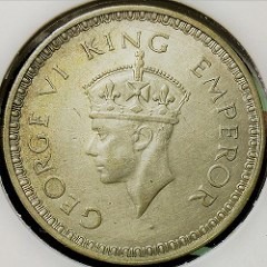 BRITISH INDIA GEORGE VI ONE RUPEE VARIETIES