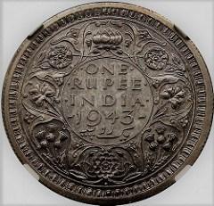 BRITISH INDIA GEORGE VI ONE RUPEE VARIETIES