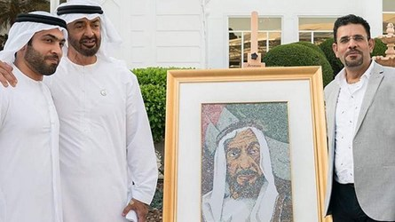 UAE ARTIST CREATES SHREDDED BANKNOTE PORTRAIT