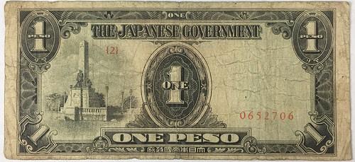 POW CARL IRETON INSCRIBED JAPANESE ONE PESO