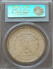 COUNTERFEIT 1893-S DOLLAR IN A FAKE PCGS HOLDER