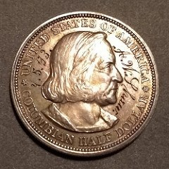QUERY: A.W. SHAW ENGRAVED COLUMBIAN HALF