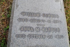 THE WILLIAM BARBER GRAVESITE