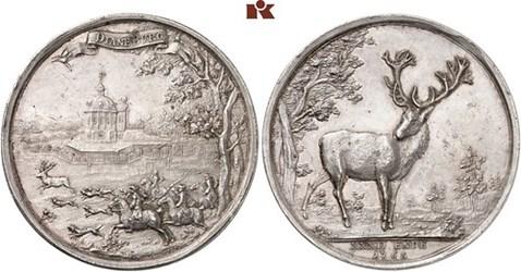 LOUIS VIII OF HESSE-DARMSTADT HUNTING MEDALS