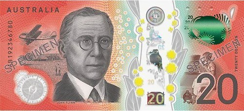 AUSTRALIAN $20 HAS FEATURES FOR VISION-IMPAIRED