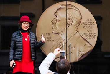 WORLD'S LARGEST NOBEL PRIZE MEDAL