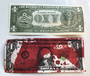 SACKLER OXY DOLLAR BLOOD MONEY NOTES