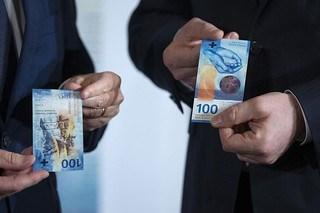 SWISS BANKNOTE FORGERY DROPS