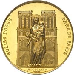 1864 GOLD NOTRE DAME RESTORATION MEDAL OFFERED