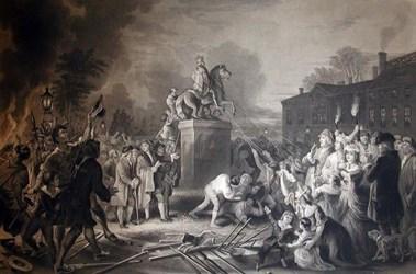 KING GEORGE III STATUE PART FOUND