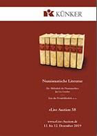 NUMISMATIC LITERATURE IN KüNKER ELIVE AUCTION 58