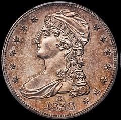 COL. GREEN'S 1838-O HALF DOLLARS