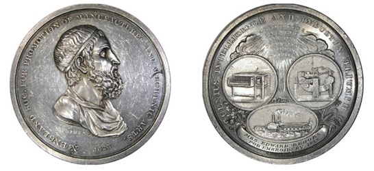 CHRISTIAN GOBRECHT'S 1826 ARCHIMEDES MEDAL