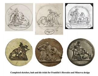 FRANKLIN'S LIBERTAS AMERICANA MEDAL DISPLAY