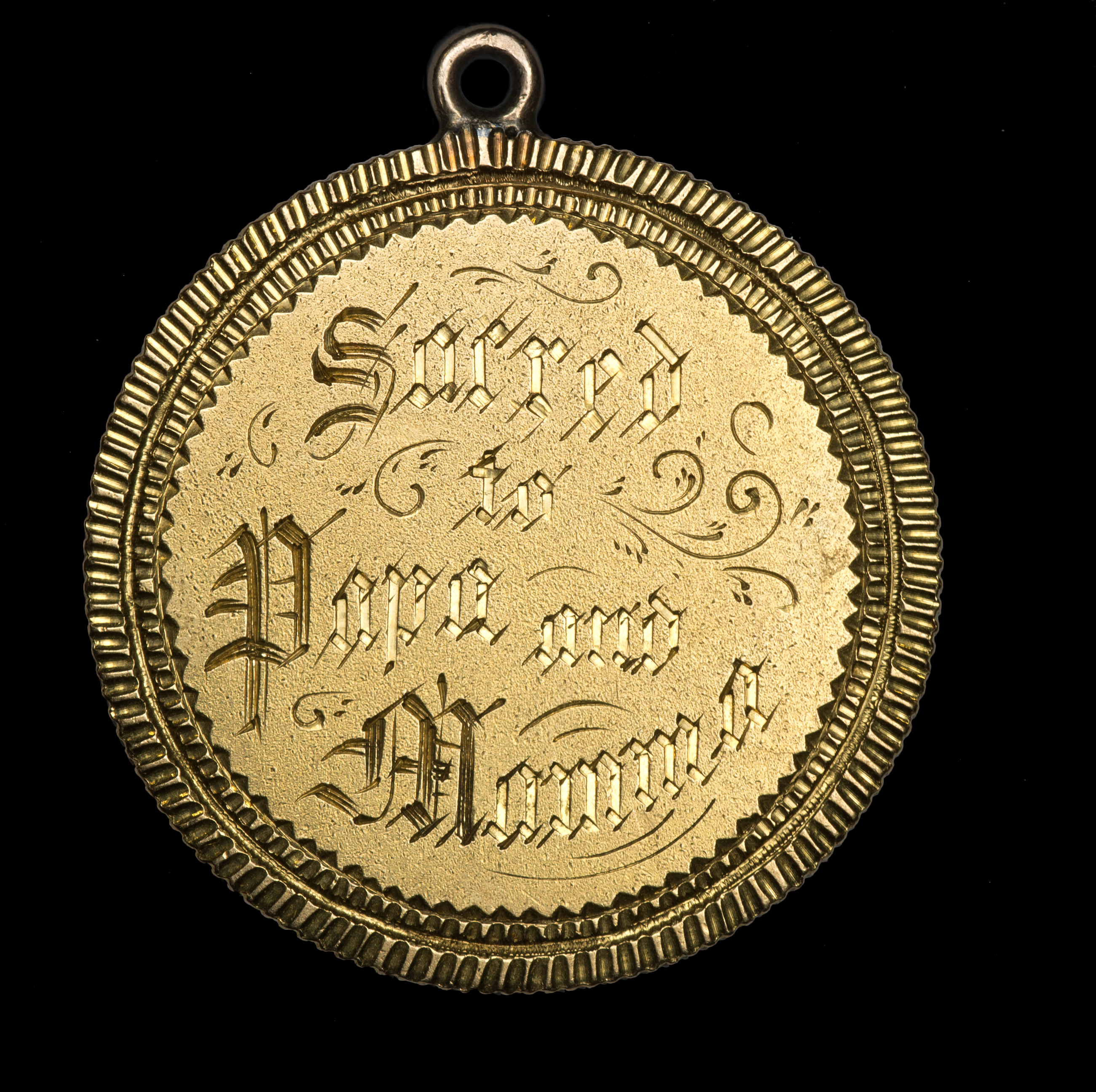 Engraved Gold Coin
