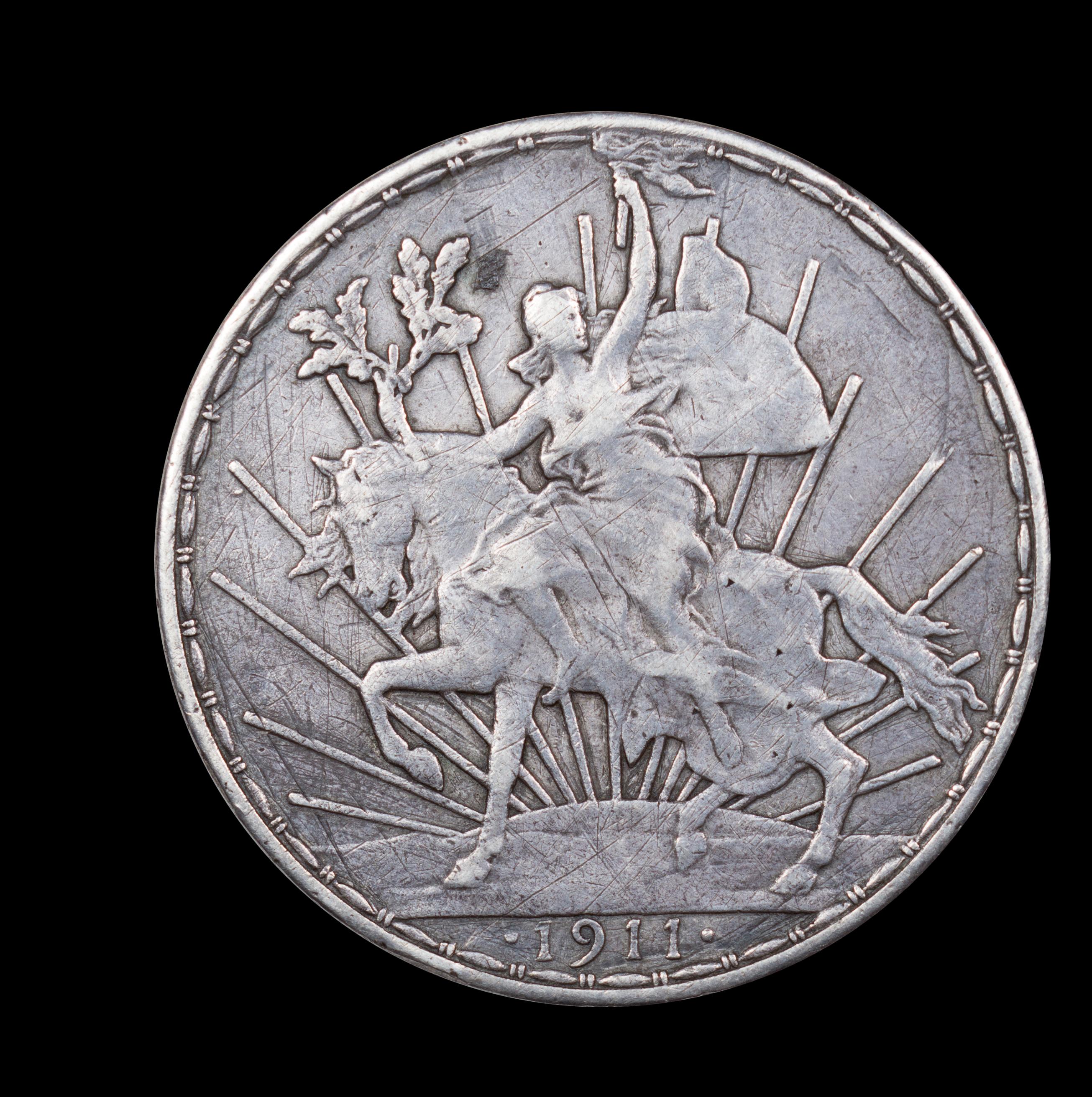 1911 Enameled Silver