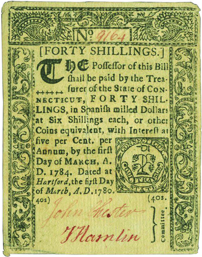 Early Paper Money of America / Connecticut / 1780 March 1
