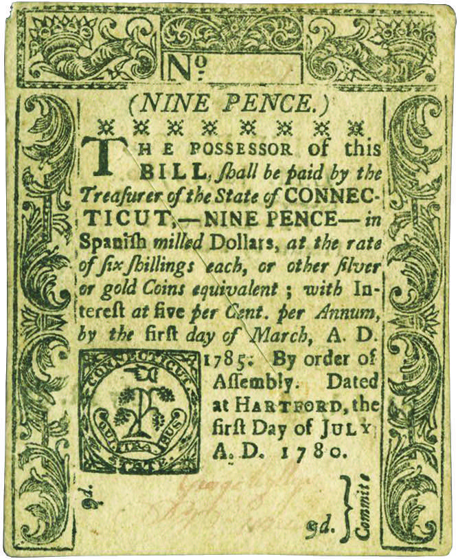 Early Paper Money of America / Connecticut / 1780 July 1