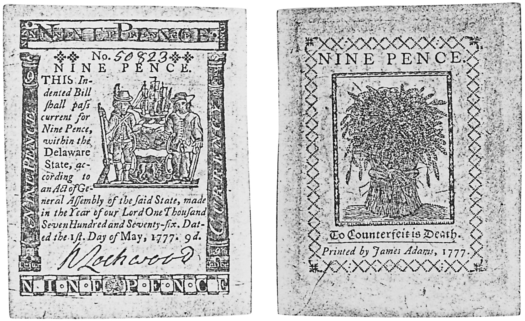 Early Paper Money of America / Delaware /1777 May 1