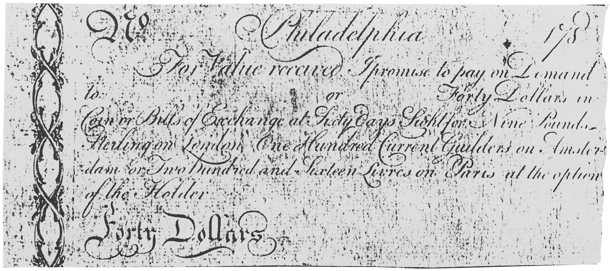 Early Paper Money of America / Virginia / Robert Morris, 1785-1786