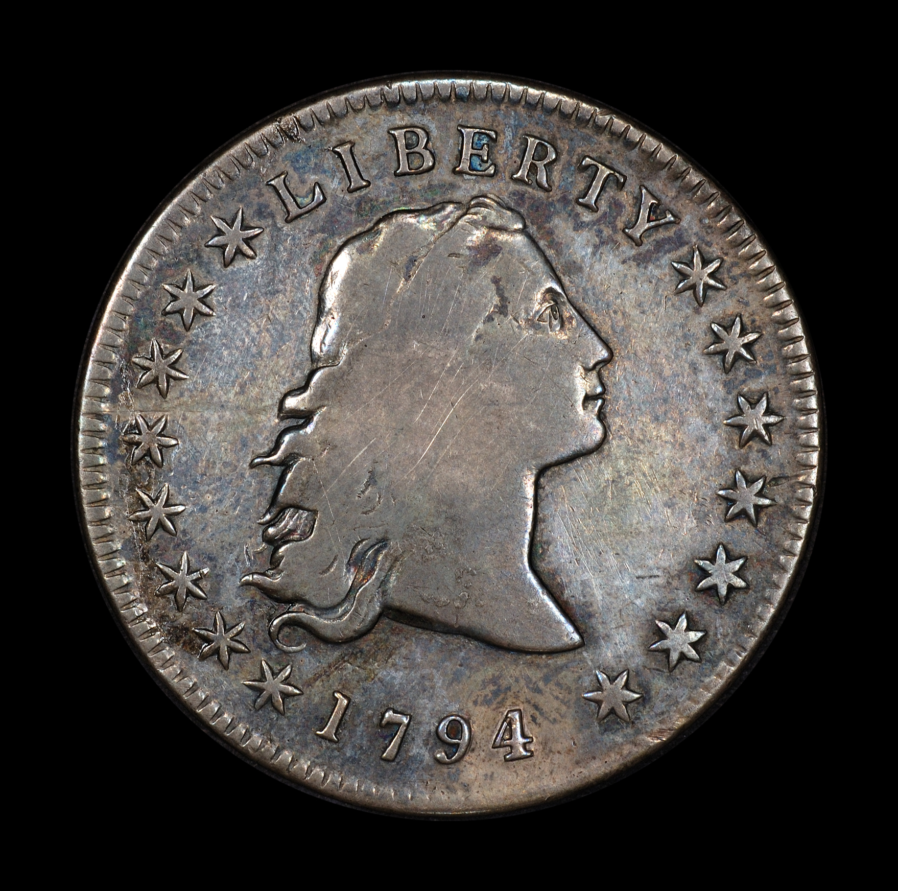 Silver Dollar 1794 (altered)