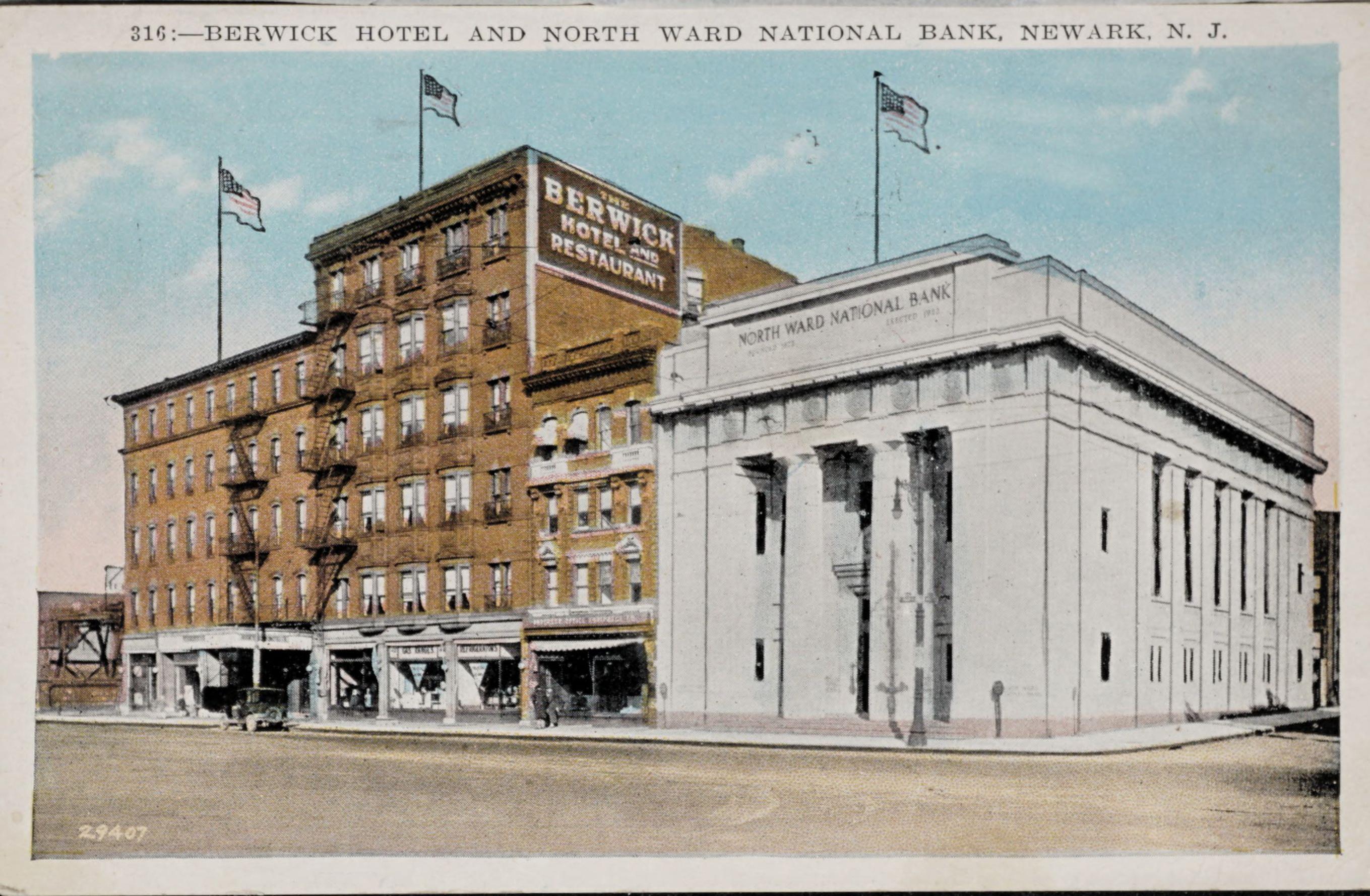 316: Berwick Hotel and North Ward National Bank, Newark, N.J.