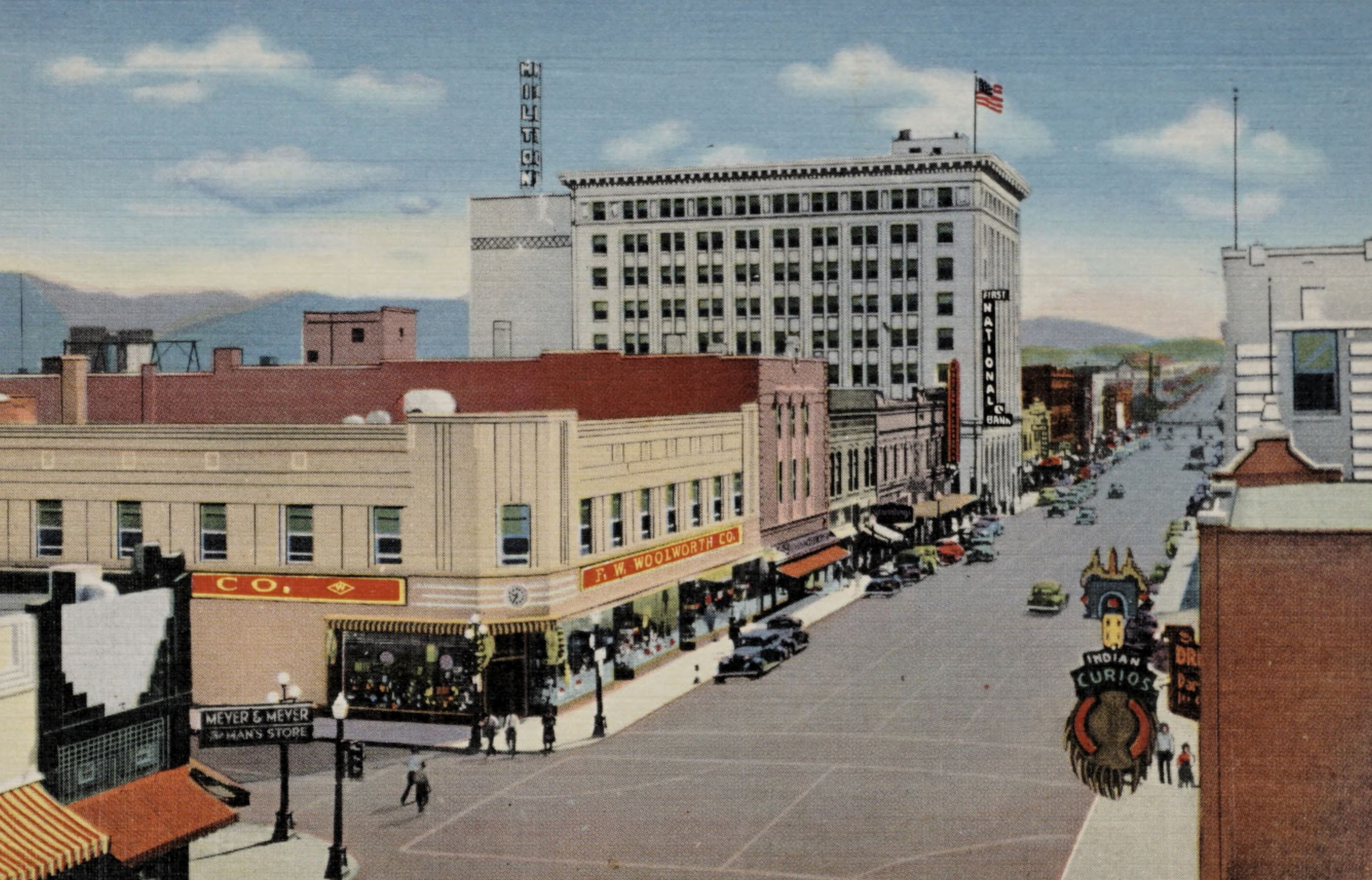 Central Ave. and Fourth St. in the heart of Albuquerque, N.M.