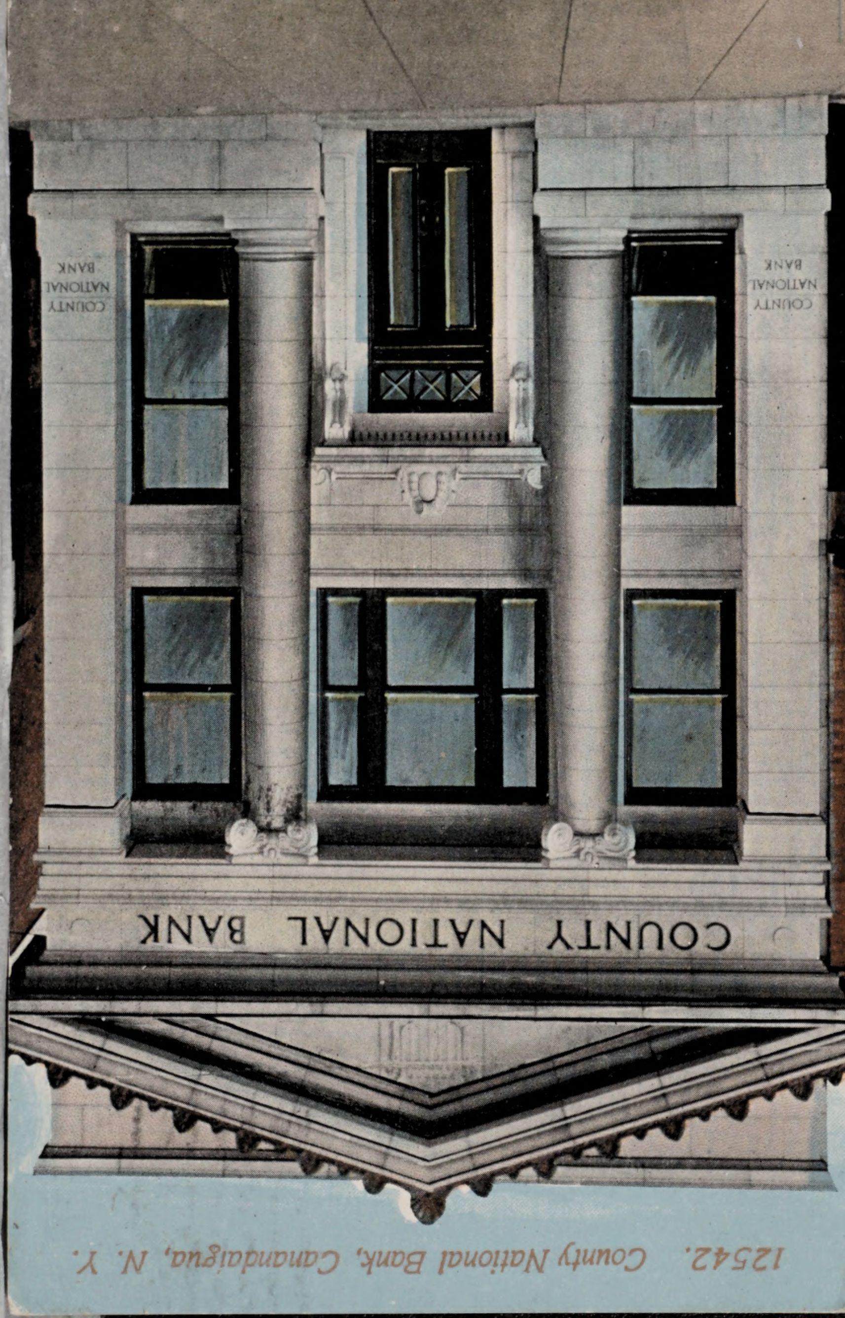 12542. County National Bank, Canandaigua, N.Y.