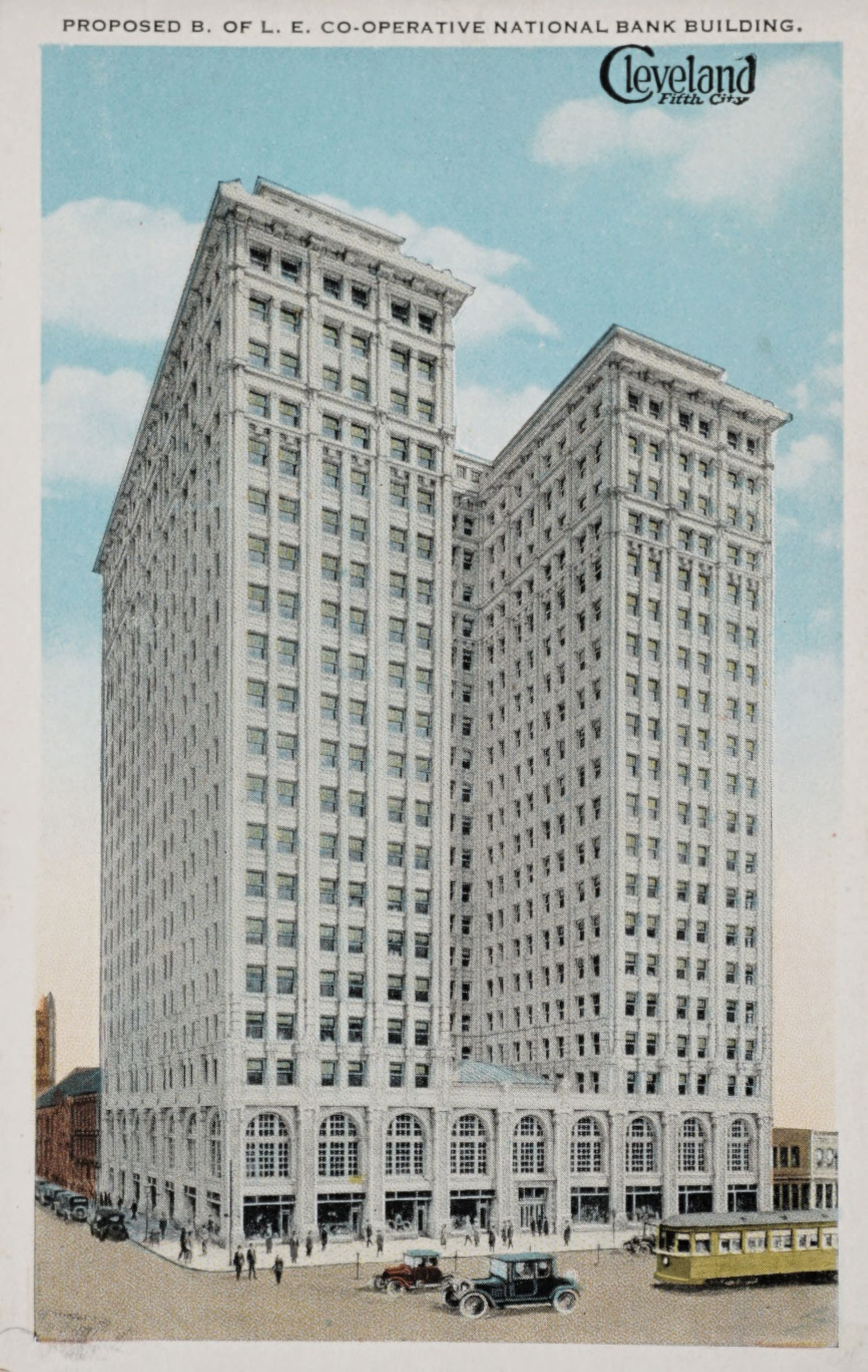 Cleveland Fifth City, Proposed B. of L.E. Co-operative National Bank Building