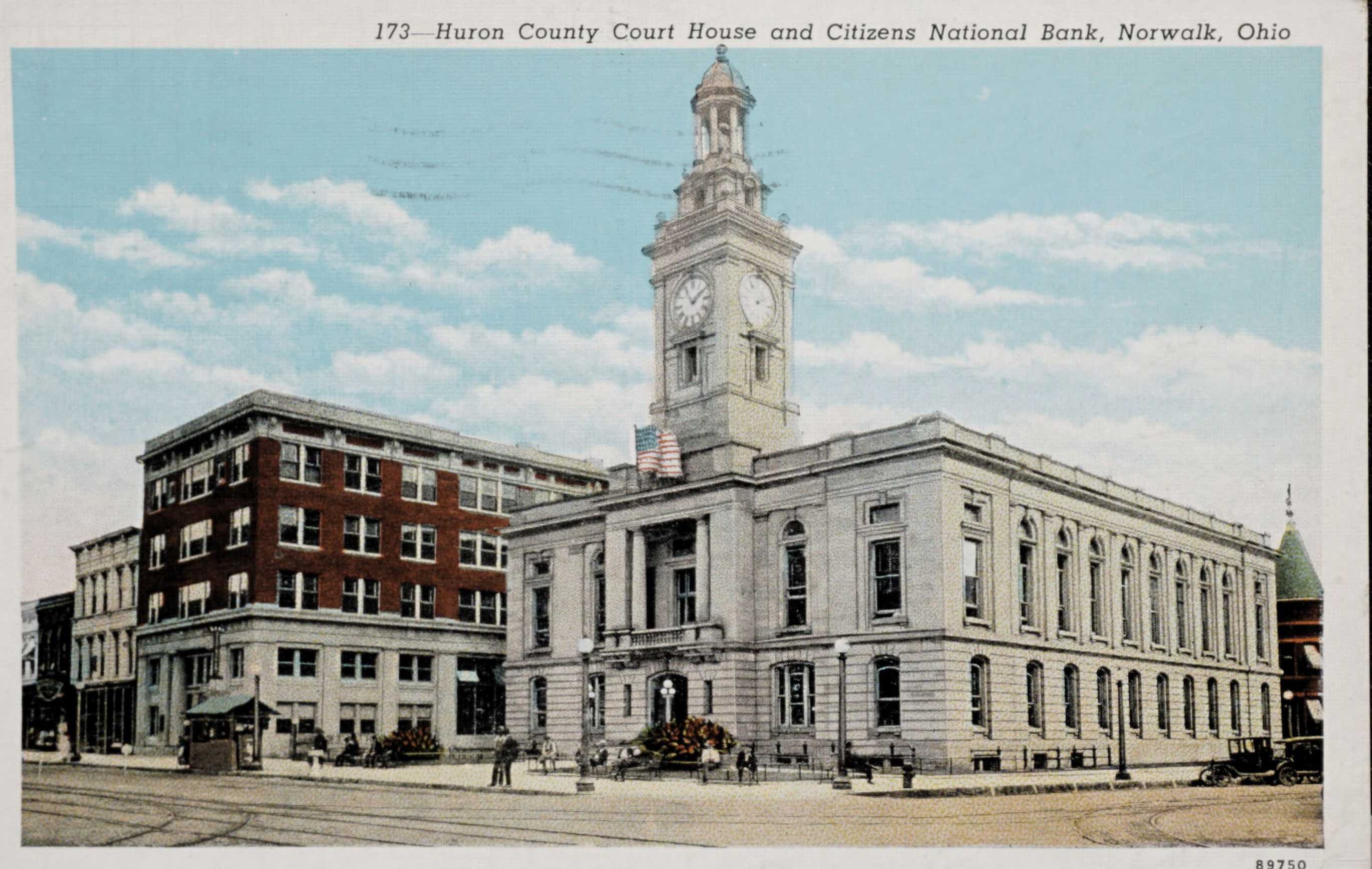 Huron County Court House and Citizens National Bank, Norwalk, Ohio