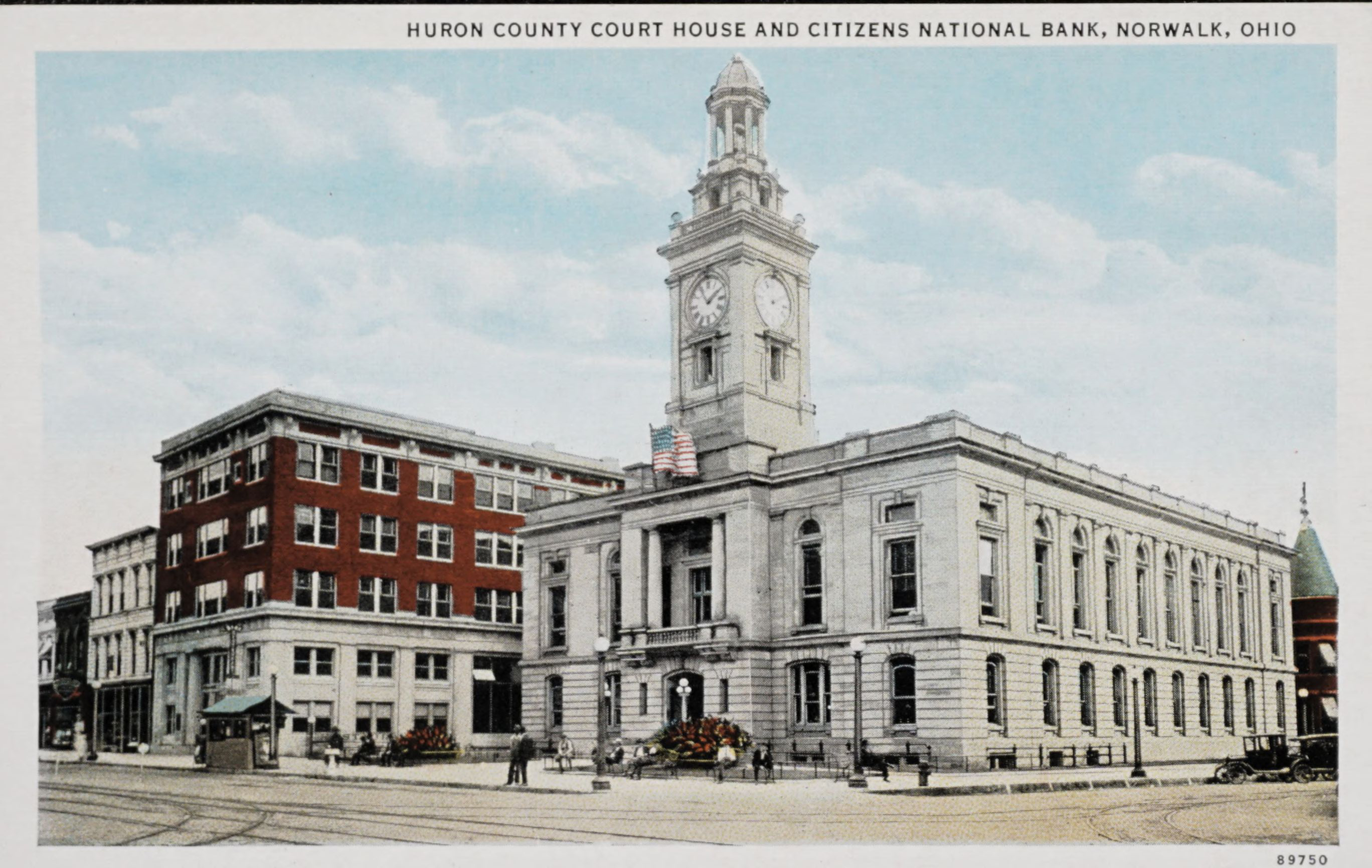 Huron County Court House and Citizens National Bank , Norwalk, Ohio