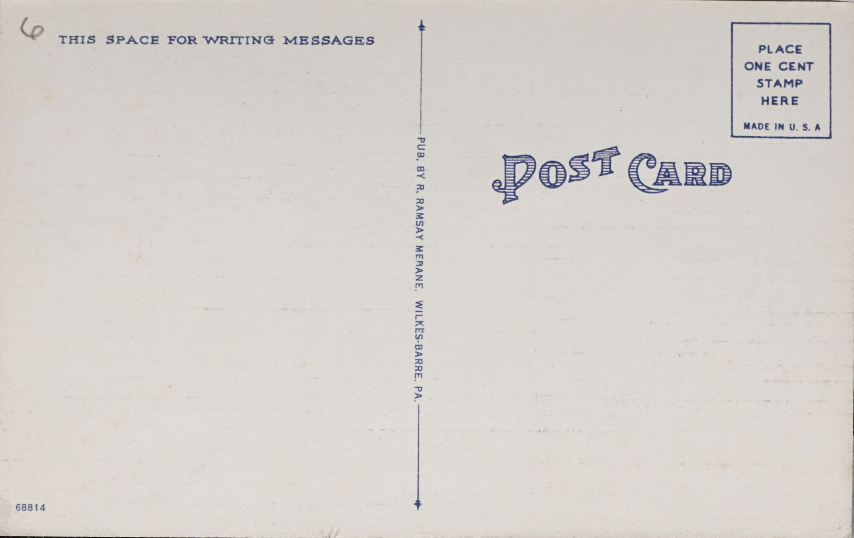 Reverse side: U.S. Post Office and Citizens National Bank, Ashland, Pa. AD3