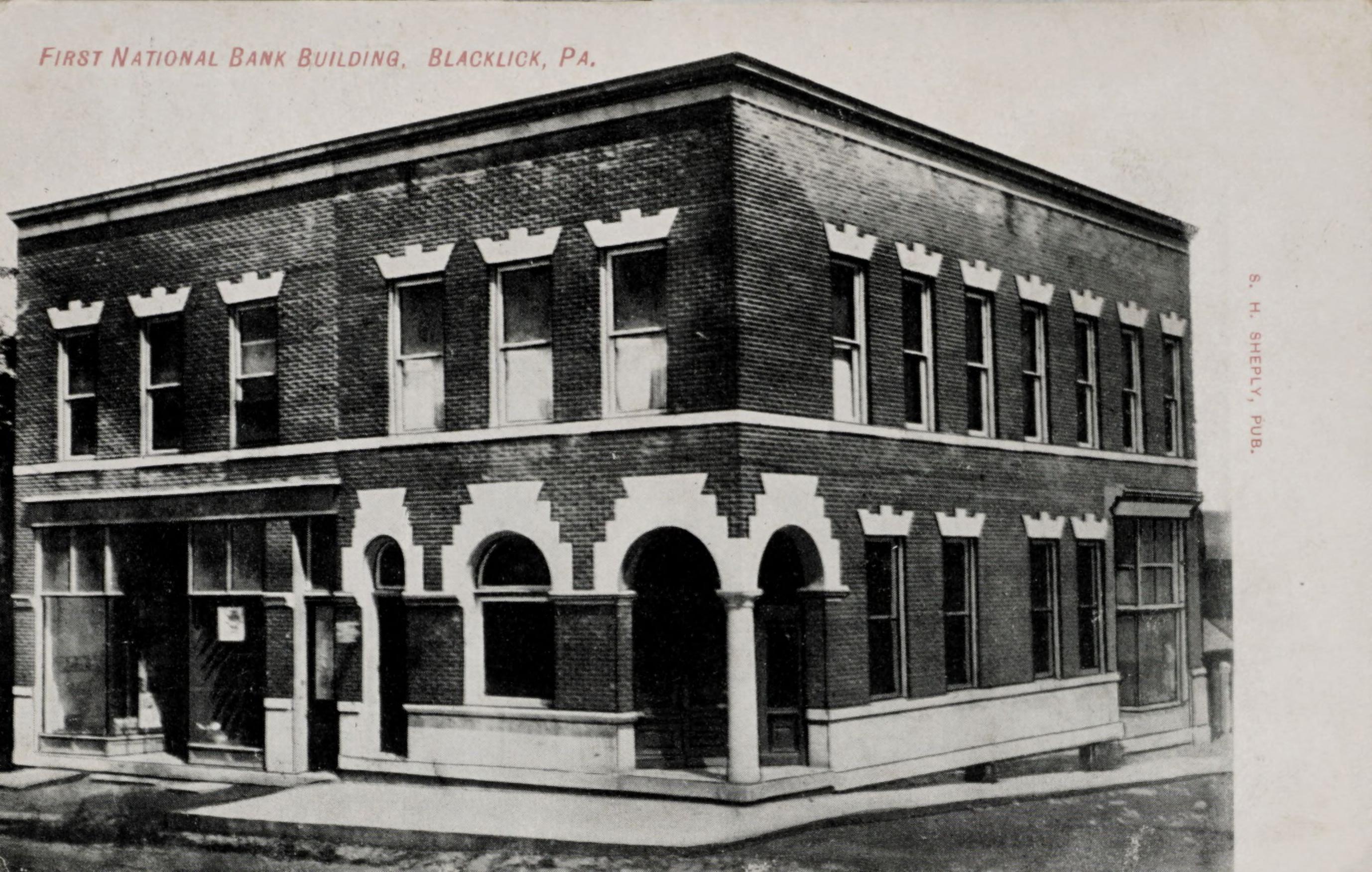 First National Bank Building, Blacklick, PA.