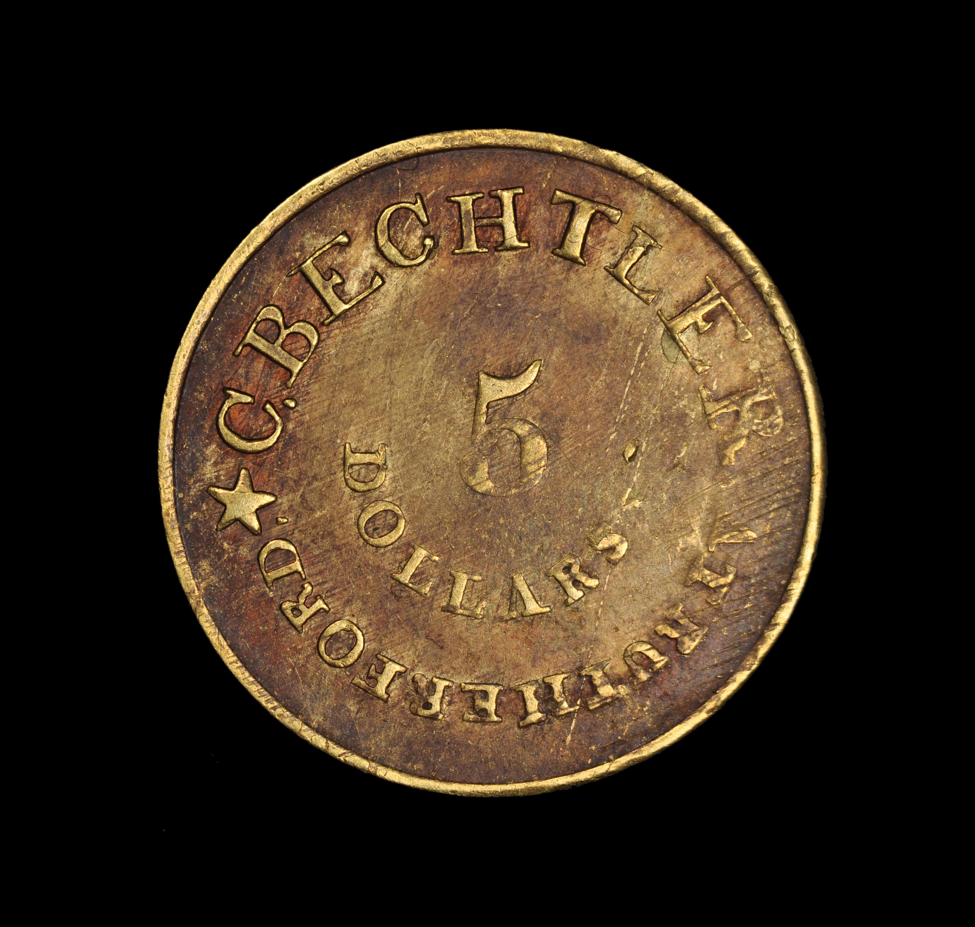 1834 C. BECHTLER $5