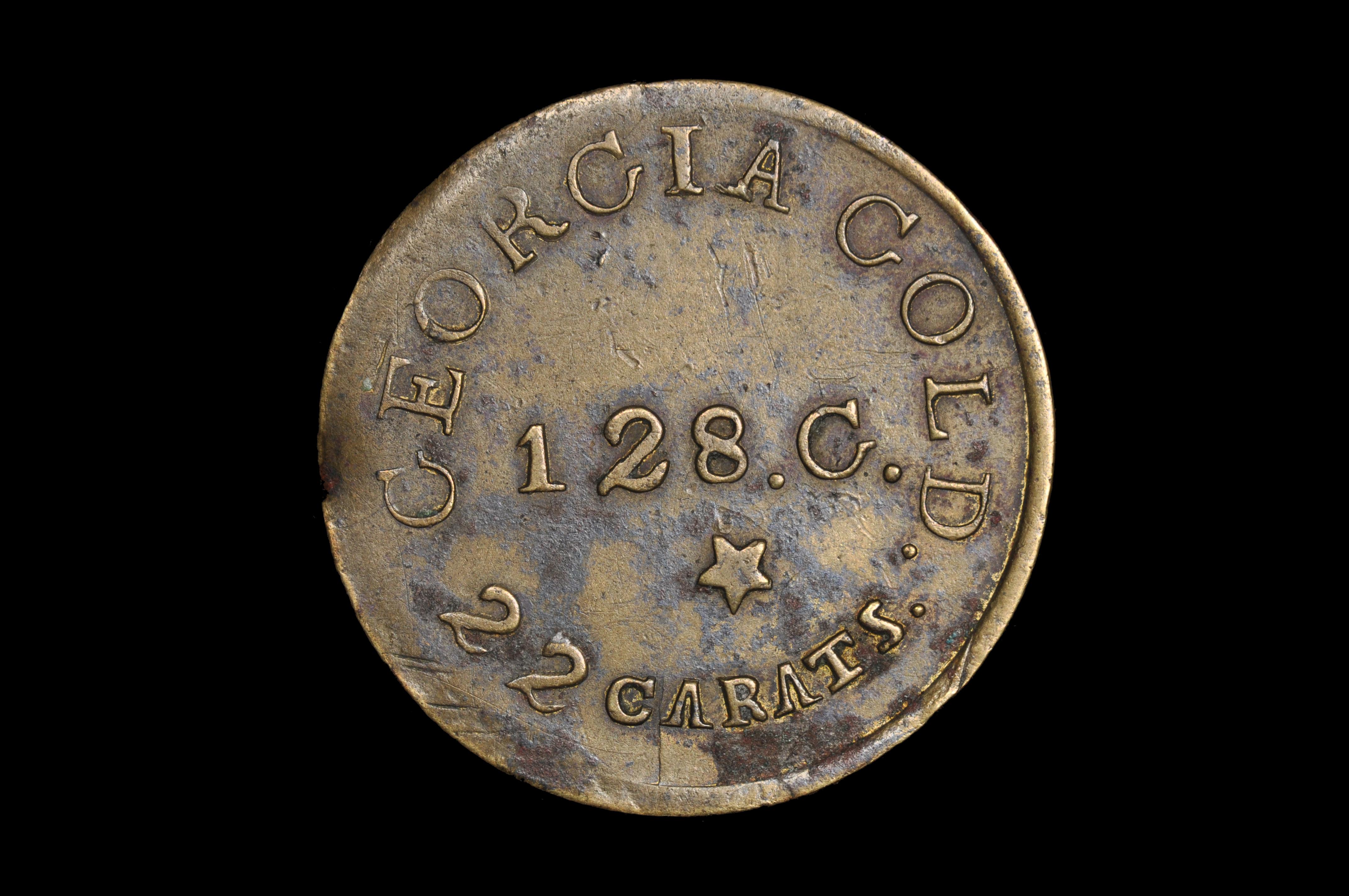 (1842) C. BECHTLER $5                                 (Contemporary counterfeit)