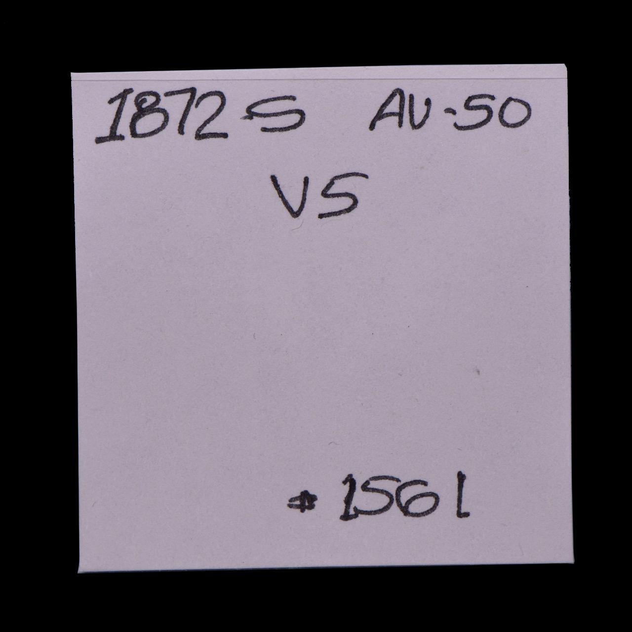 1872-S, V-5, Blundered Obverse