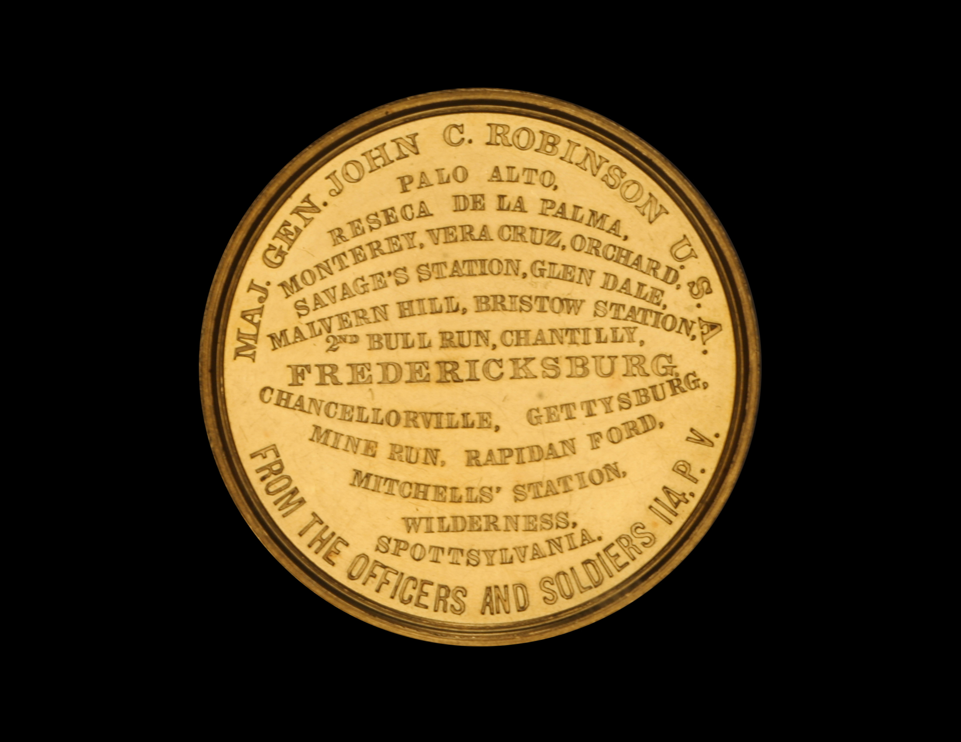 Newman Numismatic Portal At Washington University In St Louis Here39s A Breadboardlook Of How It39s Hooked Up Linclon Major General John C Robinson Medal