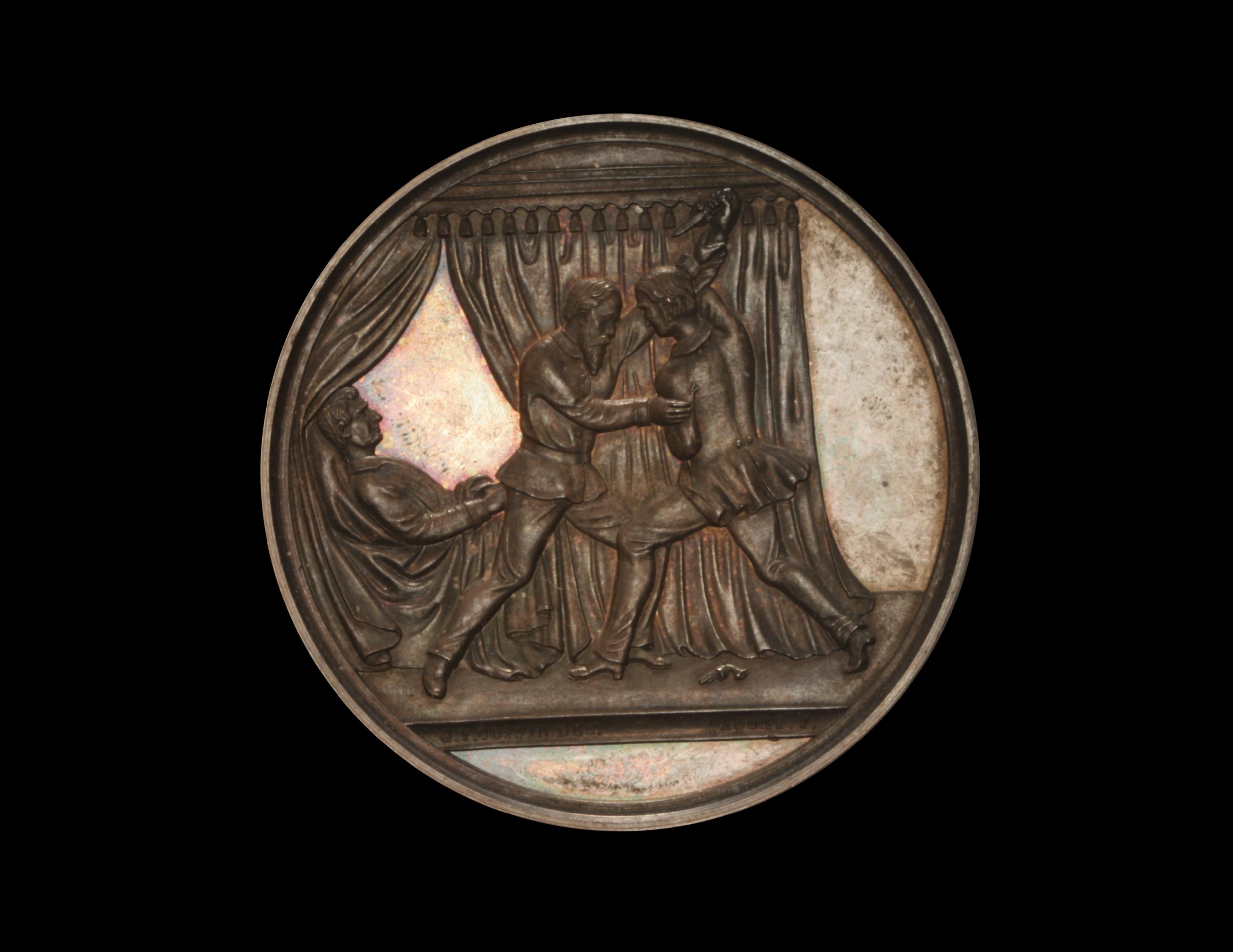 GERMAN EMPIRE SILVERED MEMORY TOKEN WW I EXONUMIA MEDAL GRANDE NATION 1914