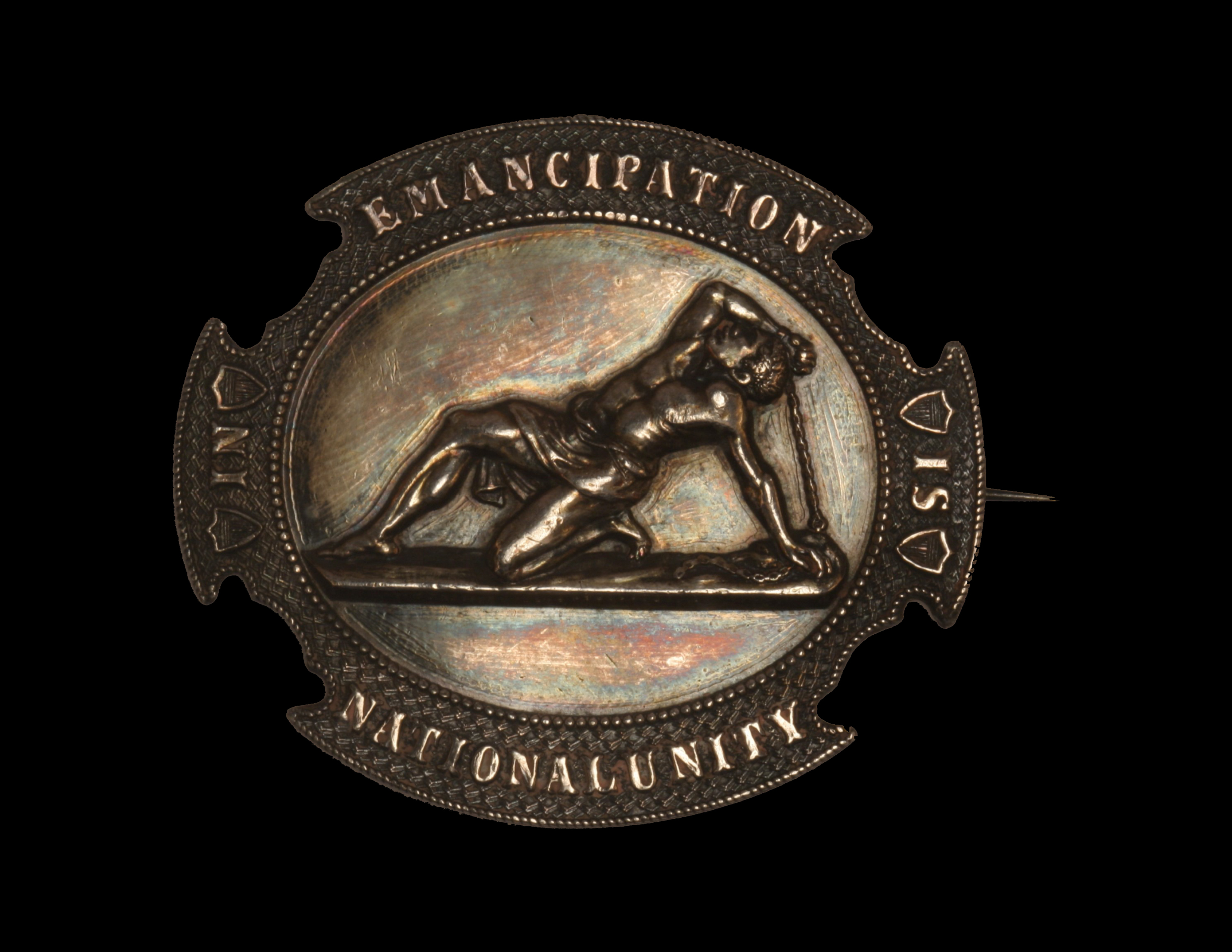 "Anti-Slavery Pin ""Emancipation Is In national Unity"""