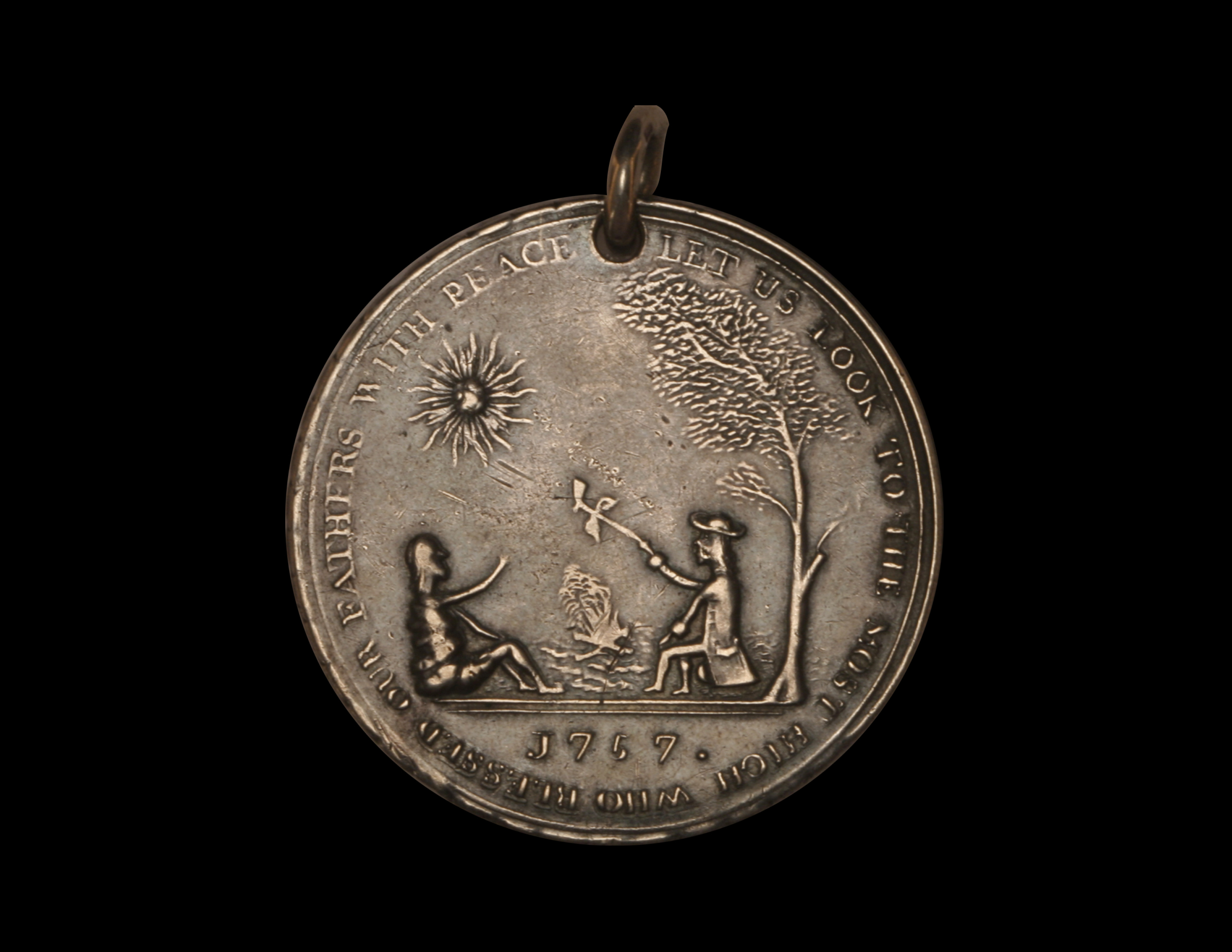 George II Indian Peace Medal - Original