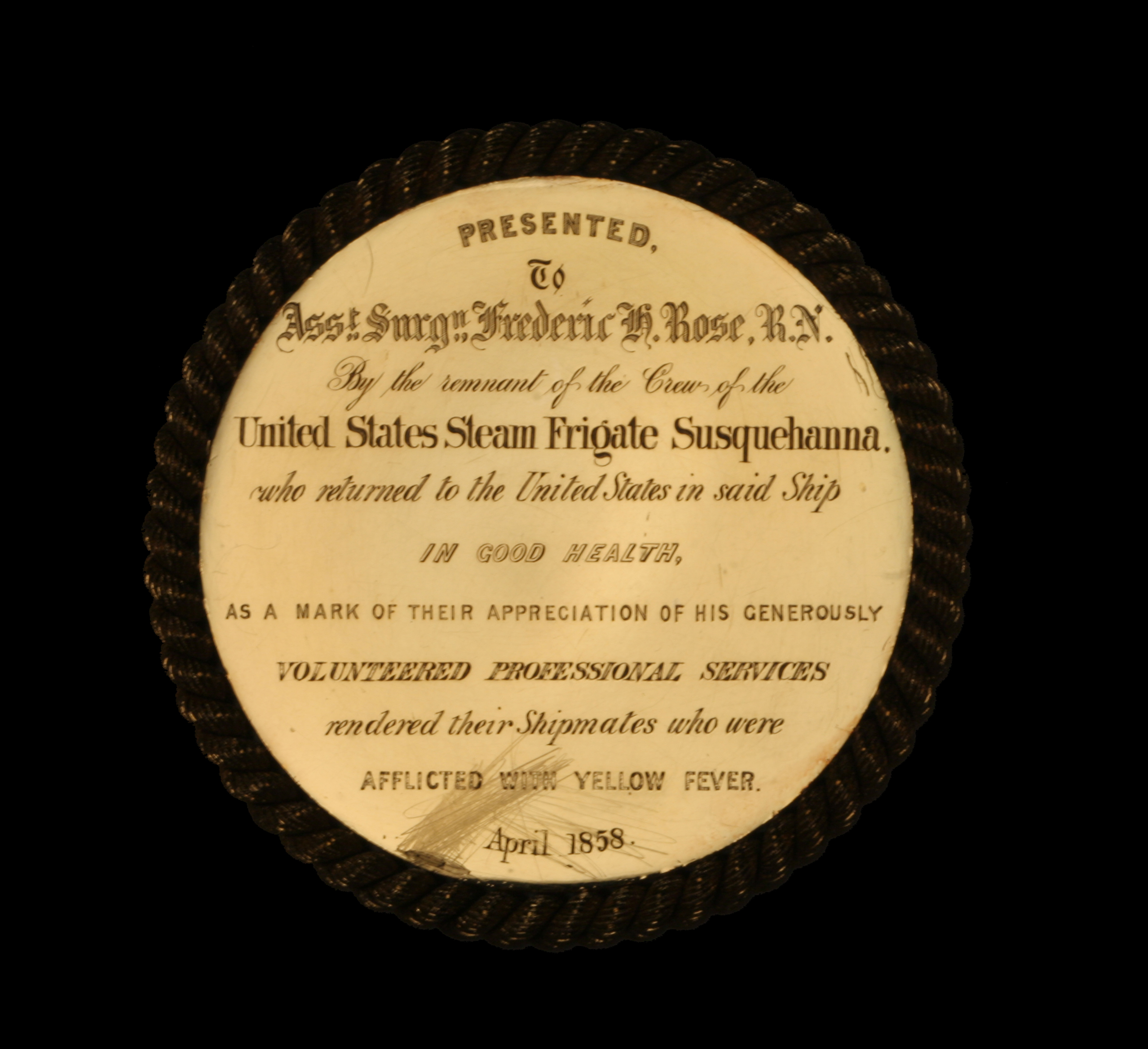 Dr. Frederick Rose Yellow Fever Medal