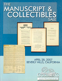 The Manuscript & Collectibles Sale