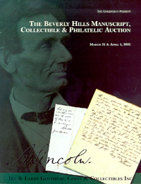 The Beverly Hills Manuscript, Collectible & Philatelic Auction